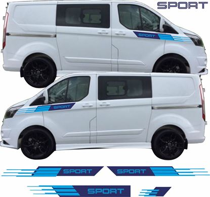 Picture of Ford Transit Custom Sport side, Bonnet & rear Stripes / Stickers