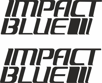 Picture of Impact Blue panel / Glass Decals / Stickers
