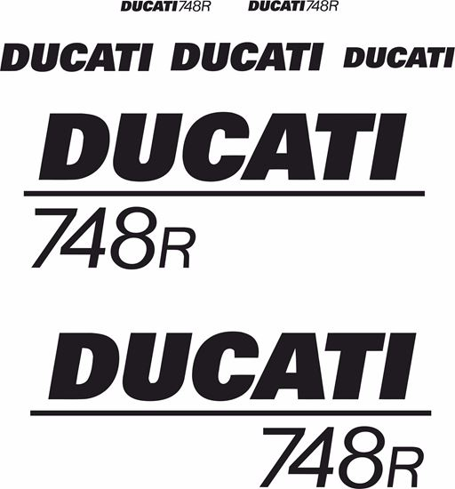 Picture of Ducati 748R Decals / Stickers kit