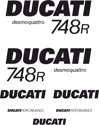 Picture of Ducati 748R desmoquattro replacement Decals / Stickers kit