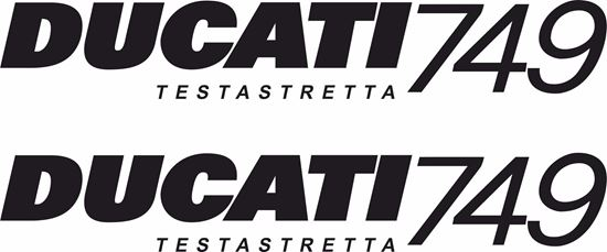 Picture of DUCATI 749 Testastretta replacement Fairing Decals / Stickers