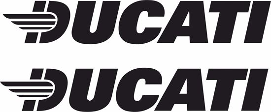 """Picture of """"Ducati"""" Decals / Stickers"""