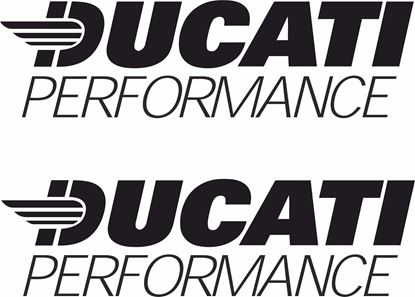 """Picture of """"Ducati Performance"""" Decals / Stickers"""