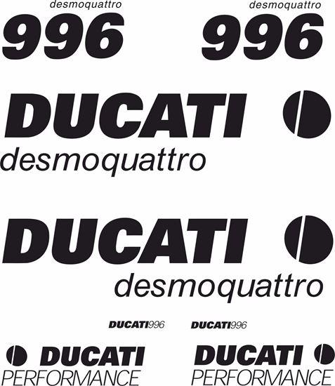 Picture of Ducati 996 desmoquattro Decals / Stickers kit