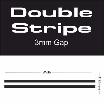 Picture of Double Stripe 3mm gap