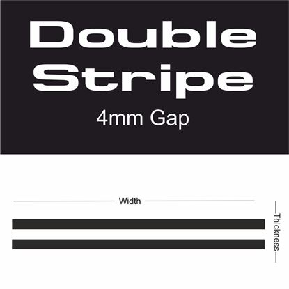 Picture of Double Stripe 4mm gap