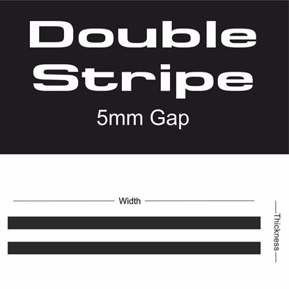 Picture of Double Stripe 5mm gap