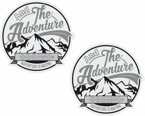 Picture of And the Adventure Begins.. General panel  Decals  / Stickers