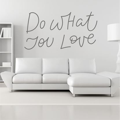 "Picture of ""Do what you love""  Wall Art sticker"
