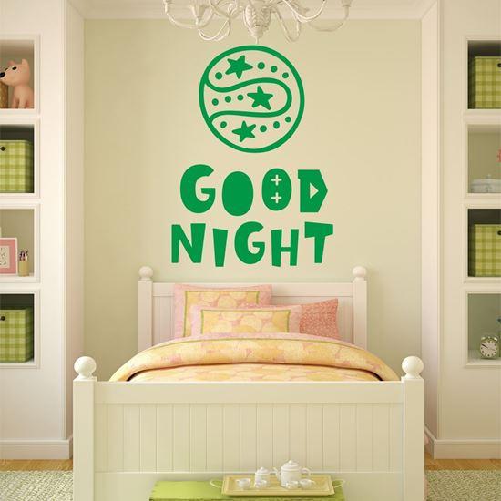 """Picture of """"Good Night"""" Wall Art sticker"""