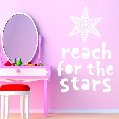 "Picture of ""Reach for the stars"" Wall Art sticker"