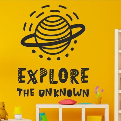 "Picture of ""Explore the unknown"" Wall Art sticker"