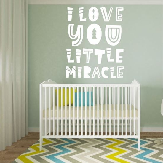 "Picture of ""I love you little miracle"" Wall Art sticker"