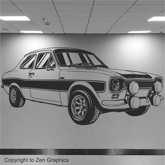 Picture of Ford Escort RS2000 Wall Art sticker