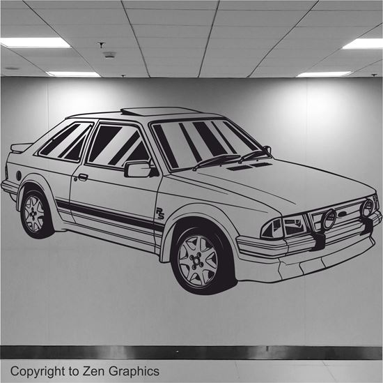 Picture of Ford Escort S1 RS Turbo Wall Art sticker