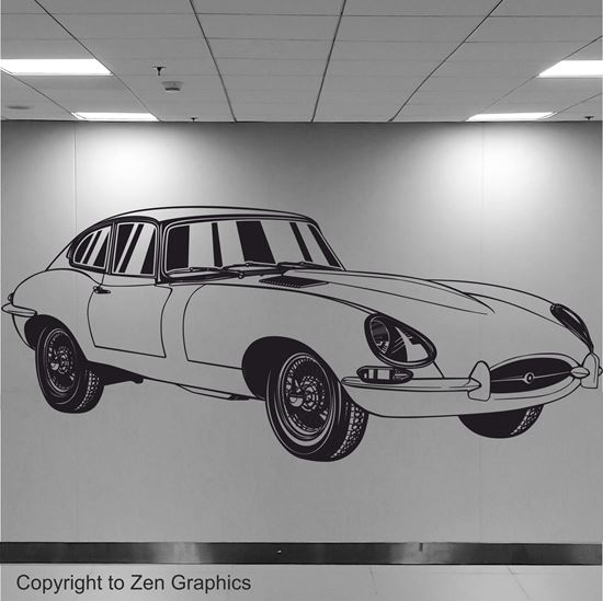 Picture of Jaguar E-Type Wall Art sticker
