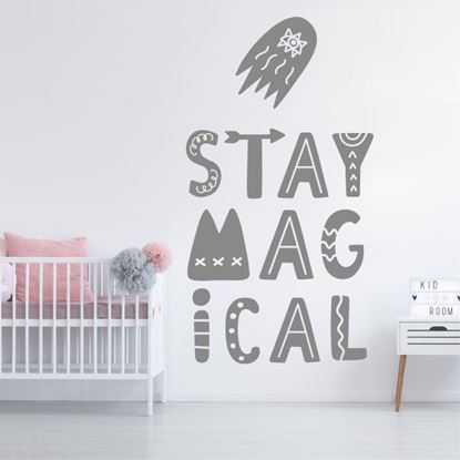 "Picture of ""Stay magical""  Wall Art sticker"