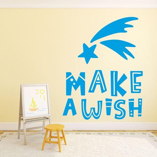"Picture of ""Make a wishl""  Wall Art sticker"