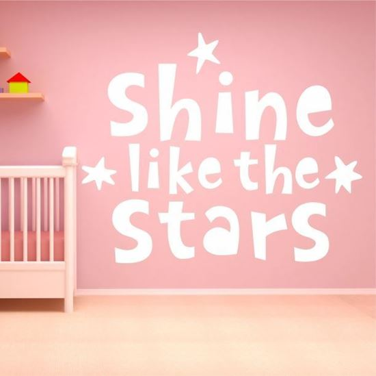 "Picture of ""Shine like the stars""  Wall Art sticker"