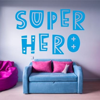 "Picture of ""Super hero""  Wall Art sticker"