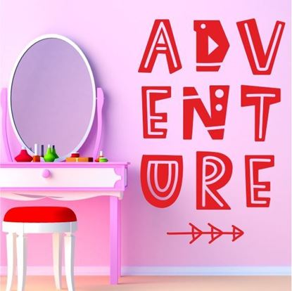 "Picture of ""Adventue""  Wall Art sticker"