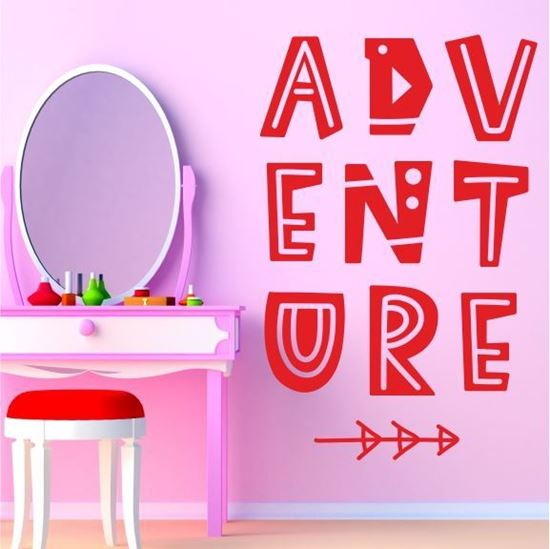 """Picture of """"Adventue""""  Wall Art sticker"""