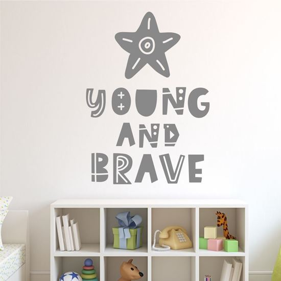 """Picture of """"Young and brave"""" Wall Art sticker"""