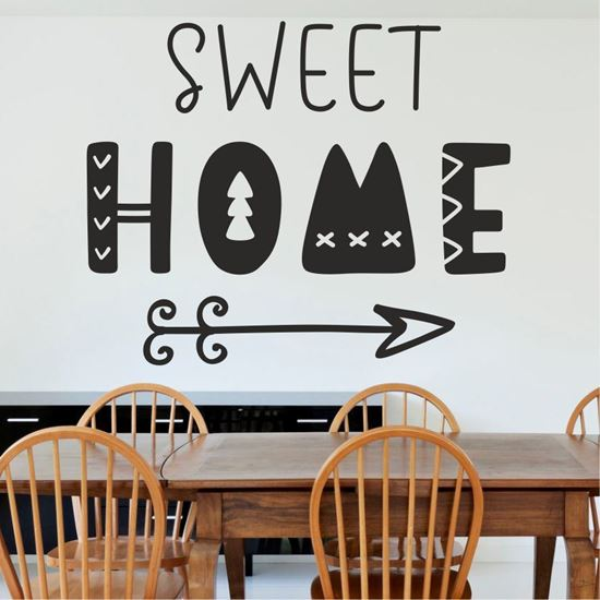"""Picture of """"Home sweet home""""  Wall Art sticker"""