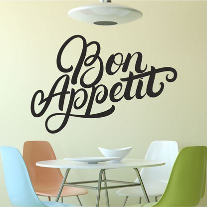 "Picture of ""Bon Appetit""  Wall Art sticker"
