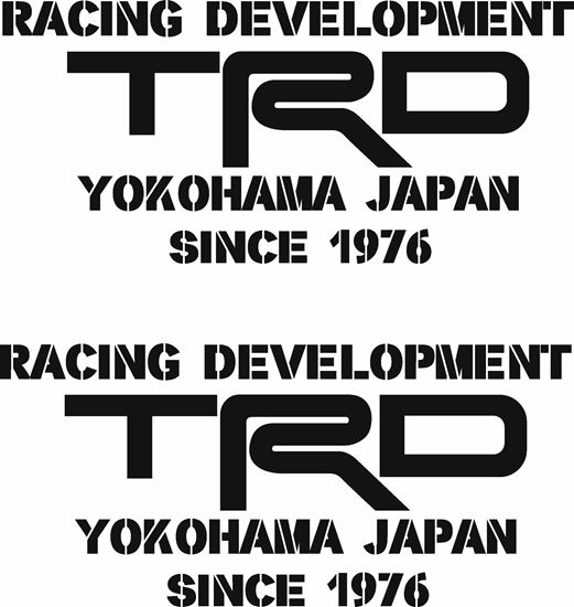 Picture of Toyota Racing Development.... Decals / Stickers