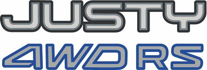 Picture of Subaru Justy 4WD RS Replacement rear hatch Decal / Sticker
