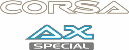 Picture of Toyota Corsa AX Special replacement rear Decals / Stickers