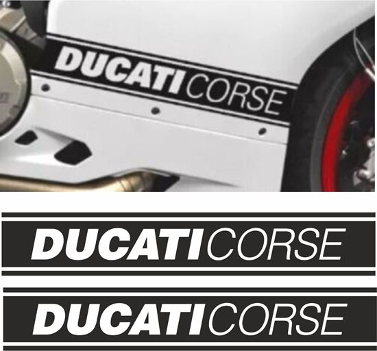 Picture of Ducati Corse side Fairing Strip / Stencil Decals / Stickers