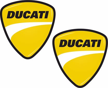 "Picture of ""Ducati"" Shield Decals / Stickers"