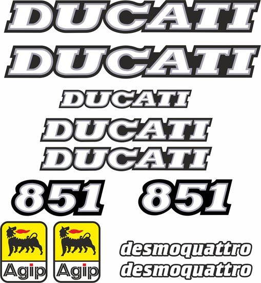 Picture of DUCATI 851 1991 - 1992 replacement Decals / Stickers