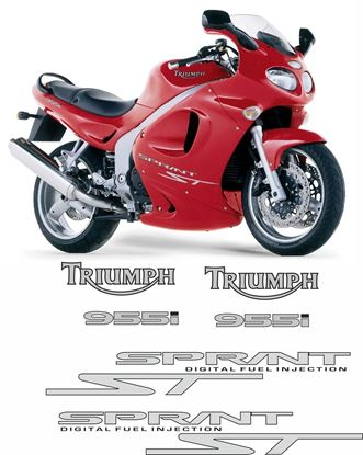 Picture of Triumph Sprint ST 955i 2002 - 2004 replacement Decals / Stickers