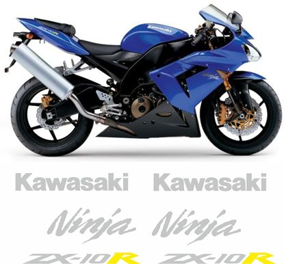 Picture of Kawasaki ZX -10R Ninja  2004 - 2005 replacement Decals / Stickers