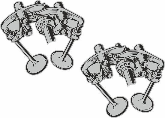 Picture of Ducati Desmodromica Illustration Decals / Stickers