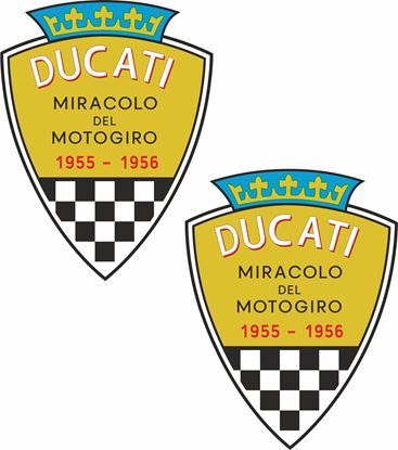 Picture of Ducati Miracolo Del Motogiro Decals / Stickers