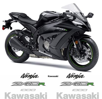 Picture of Kawasaki ZX-10R Ninja 2014 Replacement Decals / Stickers