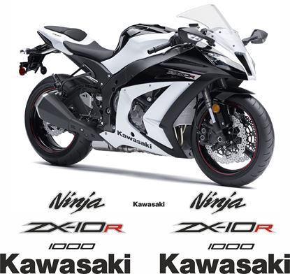 Picture of Kawasaki ZX-10R Ninja 2013 Replacement Decals / Stickers