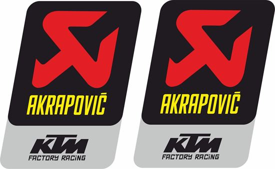 Picture of KTM Akrapovic Decals / Stickers