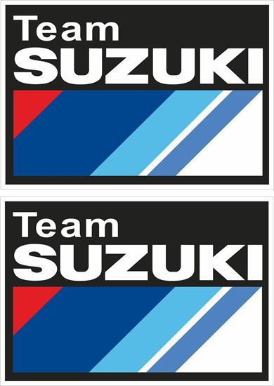 "Picture of ""Team Suzuki""  Track and street race sponsor Decals / Stickers"