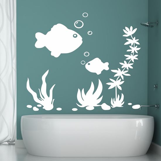 Picture of Corel and Fish  Wall Art sticker