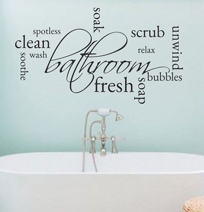 "Picture of ""Bathroom...""  Wall Art sticker"
