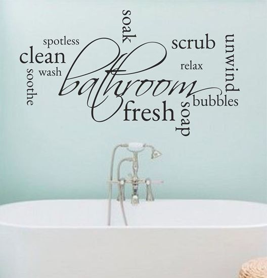 """Picture of """"Bathroom...""""  Wall Art sticker"""