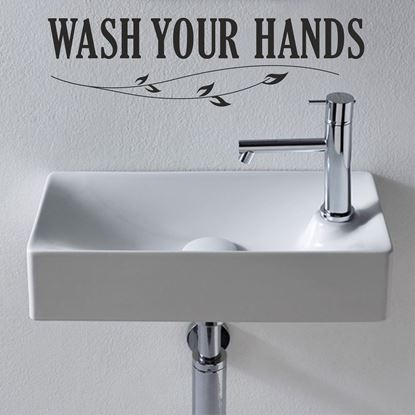 "Picture of ""Wash your hands"" Wall Art sticker"