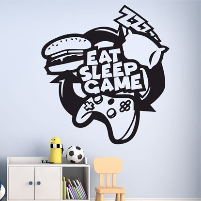 "Picture of ""Eat, Sleep, Game"" Wall Art sticker"