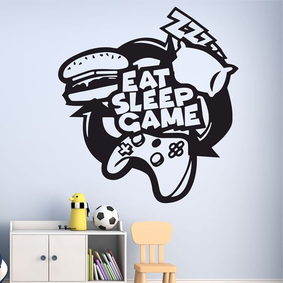 """Picture of """"Eat, Sleep, Game"""" Wall Art sticker"""