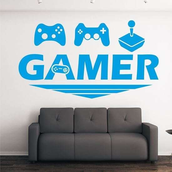 """Picture of """"Gamer"""" Wall Art sticker"""